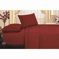 carlylehome 1800 series king size soft touch vine embossed sheet burgundy walmart com