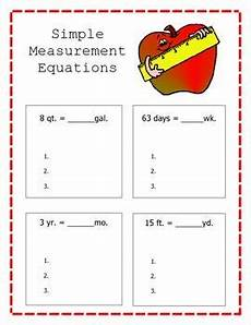simple measurement equations math simple math worksheets