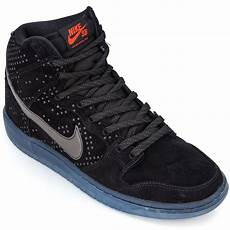 nike dunk high premium flash sb shoes black clear black