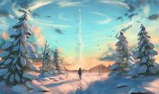 Winter Wallpaper Drawing