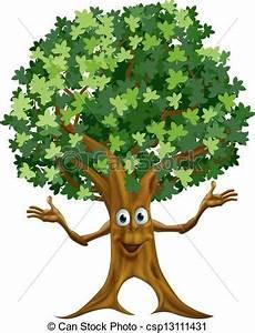 clipart alberi vettori di albero carattere cartone animato