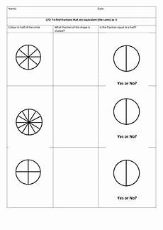 fraction worksheets primary resources 4069 fractions equivalent to half for primary ks1 lower ks2 a simple worksheet that