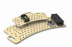 holeyboard pedal board holeyboard wide classic pedalboard curved deck 2 levels reverb