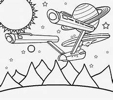trek coloring page for embroitdery startrek llap