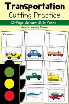 cutting practice worksheets transportation worksheets printables for pre k to second grade