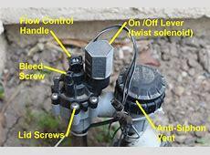 Rainbird Anti Siphon Valve with controls labeled