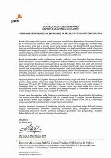 laporan auditor standar unqualified opinion pt telkom