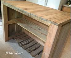 Kochinsel Selber Bauen - how to make a pallet kitchen island for less than 50
