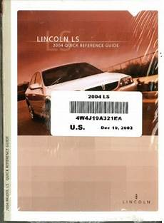car owners manuals for sale 2004 lincoln ls spare parts catalogs 2004 lincoln ls owners manual