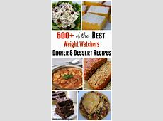 500  Weight Watchers Recipes for Dinner and Dessert