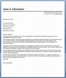 cover letter mechanical engineer sle cover letter for