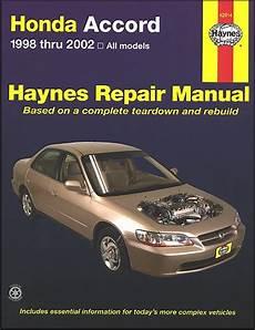 auto repair manual free download 1998 honda accord parking system honda accord repair manual 1998 2002 haynes 42014