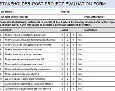 stakeholder project evaluation form 187 template haven