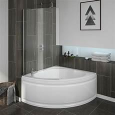 Laguna Corner Shower Bath With Screen Panel