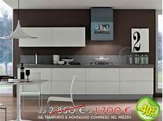 arredissima cucine prezzi cucina lineare lunghezza 360 cm in finitura bianco lucido