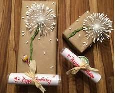 Geschenk Schön Verpacken - geschenk verpacken pusteblume happy birthday