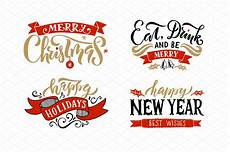 christmas holidays lettering templates creative market