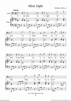 free silent night sheet music for cello and piano high quality