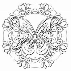 butterfly masquerade mandala colorme decal coloring