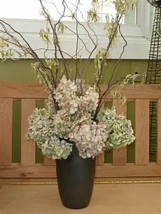 getrocknete hortensien dekorieren dried hydrangea arrangement search projects