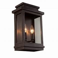artcraft 2 light rubbed bronze outdoor wall sconce cli acg002486 the home depot