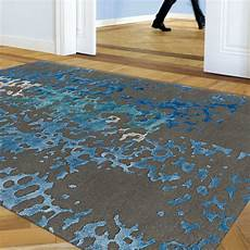 tapis de luxe gris souris et bleu en de nouvelle