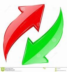 Grüner Pfeil An El - rote und gr 252 ne pfeile eingestellt gl 228 nzende ikonen des