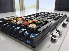 Kitchenaid Cooktop With Grill by Kitchenaid 36 Quot Built In Gas Cooktop Stainless Steel At