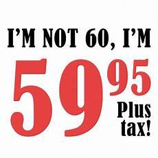 60th birthday gift plus tax all shop sales