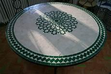 mosaik tisch marokkanischer mosaiktisch rund 100 cm handarbeit