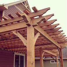 pergola beam design centered beam pergolas fort collins windsor co outrigger landscaping