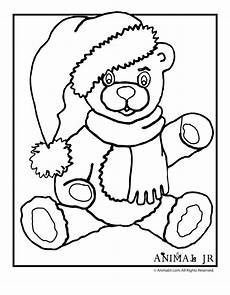 Ausmalbilder Weihnachten Teddy Animal Jr Teddy Coloring Page