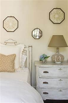 whitewashed chest cottage bedroom