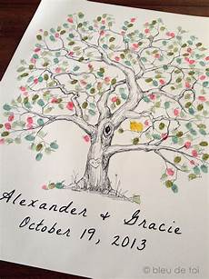 items similar to fingerprint wedding tree guest book poster engagement tree owls guestbook elm fingerprint tree wedding guest book alternative thumbprint guestbook children crafts