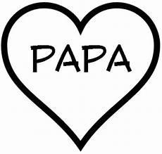 herz mit papa als malvorlage kostenloses ausmalbild