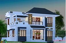 modern kerala house plans 1744 square feet modern home with 4 bedrooms kerala home