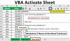 vba activate sheet how to activate a sheet in excel using vba code