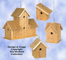 cedar bird house plans cedar birdhouses 3 wood project plan from the winfield