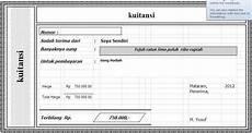 download kwitansi sederhana file excel dengan kelas tk aplikasi desain