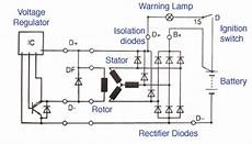 wiring alternator wiring circuit diagram