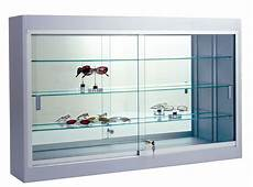 36 quot w wall display case standard laminate led lights