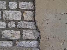 alte ziegelmauer sanieren brick and plaster wall pattern up stock photo
