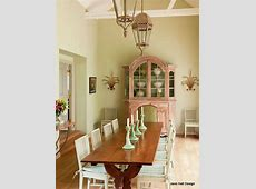 Rustic style dining room in a French Country home in soft