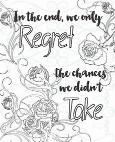 adult inspirational coloring page printable 13 take a chance