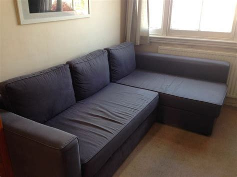 L-shaped Ikea Manstad Sofa Bed For Sale. Blue/grey Reduced