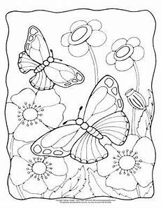 Malvorlage Schmetterling Blume Butterfly Coloring Pages Free Printable From To