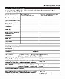 sle tenant application form 8 exles in word pdf