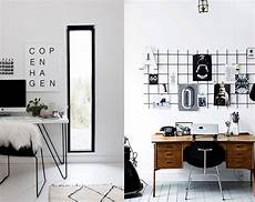 11 black white scandinavian office decor ideas