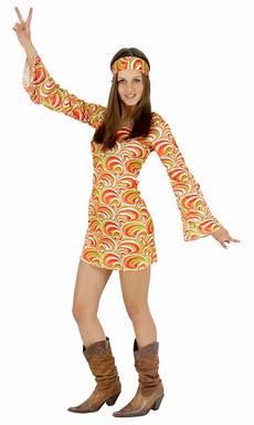 Buntes Hippie 70er Jahre Kleid F 252 R Damen Gr Xs Xl