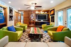 living rooms that sport a book catch the at home caves for sports fans hgtv